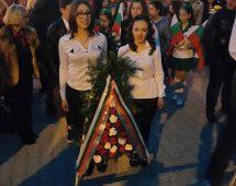 Участие във факелно шествие по случай годишнината от обесването на Левски